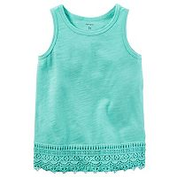 Baby Girl Carter's Slubbed Crochet Tank Top