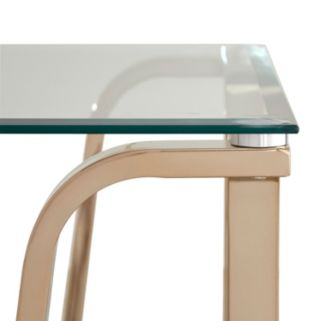 HomeVance Avalos Wave Base End Table