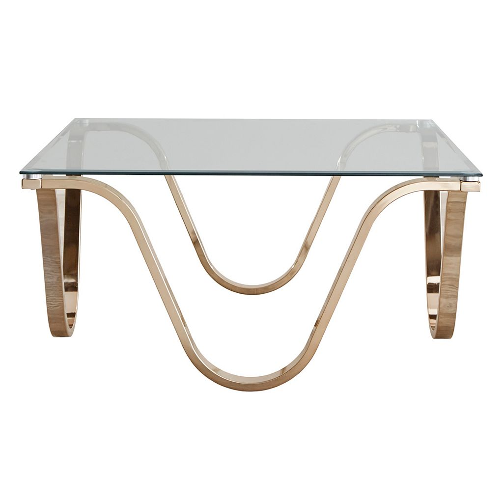 HomeVance Avalos Wave Base Coffee Table