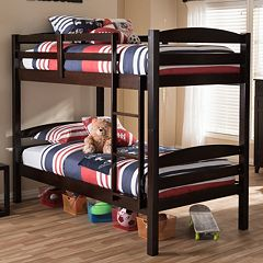 Baxton Studio Crimson Twin Bunk Bed  by