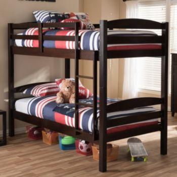 Baxton Studio Crimson Twin Bunk Bed
