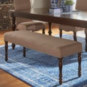 HomeVance Ingram Nailhead Padded Dining Bench