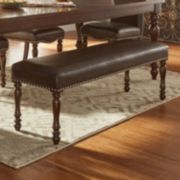 HomeVance Ingram Faux Leather Padded Dining Bench