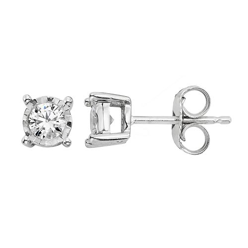 14k White Gold 1/4 Carat T.W. Diamond Stud Earrings