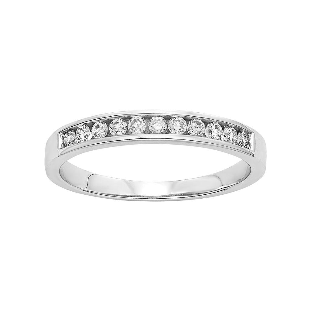 Platilite 1/4 Carat T.W. Diamond Anniversary Ring