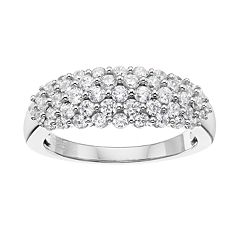 10k White Gold 1 Carat T.W. Diamond Cluster Ring