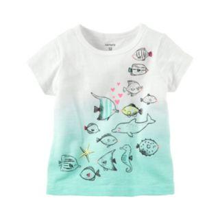 Baby Girl Carter's Dip-Dye Fish Graphic Tee