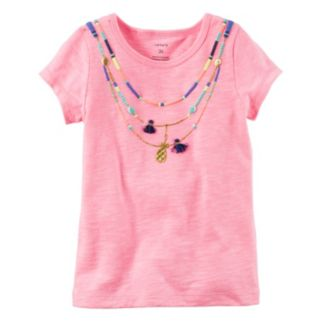 Baby Girl Carter's Short Sleeve Necklace Tee