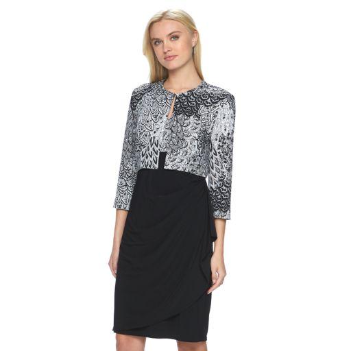 Women's MSK Ruffle Dress & Jacket Set