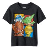 Toddler Boy Star Wars R2-D2, Yoda, Chewbacca & C3PO Graphic Tee