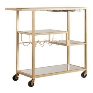 HomeVance Marilyn Step Tier Shelf Bar Cart