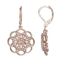 LC Lauren Conrad Overlapping Circle Flower Drop Earrings