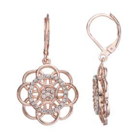 LC Lauren Conrad Overlapping Circle Flower Drop Earrings