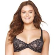 Paramour by Felina Bras: Lou Lou Full-Figure Unlined Lace Bra 115027