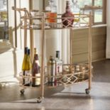 HomeVance Mattie Serving Bar Cart