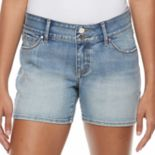 Women's Apt. 9® Faded Jean Shorts