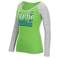 Women's adidas Seattle Sounders Stack Striped Tee
