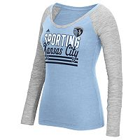 Women's adidas Sporting Kansas City Stack Striped Tee