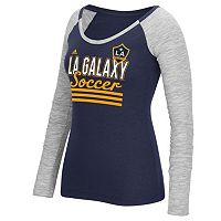 Women's adidas Los Angeles Galaxy Stack Striped Tee