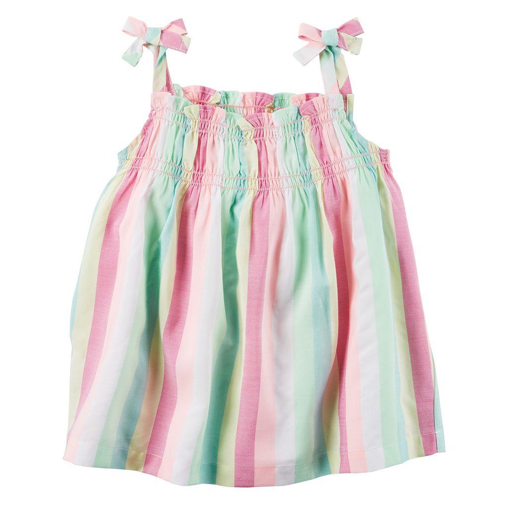 Baby Girl Carter's Striped Smocked Tank Top