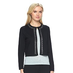 Women's Ronni Nicole Embellished Crop Cardigan