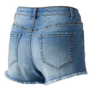 Juniors' Mudd® Embroidered Ripped Shortie Shorts