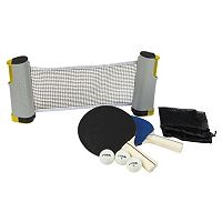 STIGA Retractable Table Tennis Net & Paddle Set