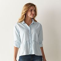 Women's SONOMA Goods for Life™ Chambray Peplum Blouse