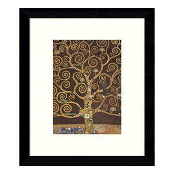 Tree of Life Brown Variation V Framed Wall Art