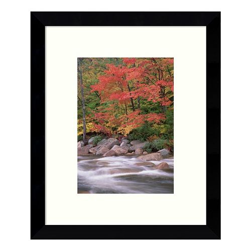 Autumn Along Swift River White Mountains National Forest New Hampshire II Framed Wall Art