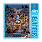 Holy Night 500 pc Holiday Glitter Puzzle by MasterpiecesPuzzles