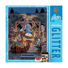 Holy Night 500-pc. Holiday Glitter Puzzle by MasterpiecesPuzzles