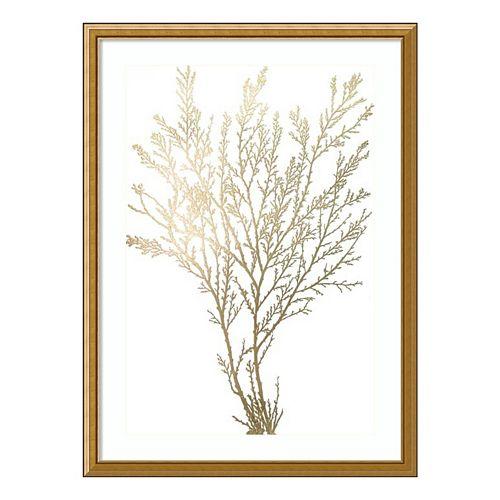 Algae I Metallic Print Framed Wall Art