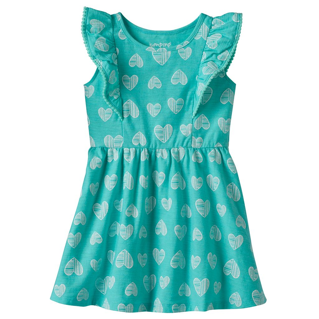 Baby Girl Jumping Beans® Flutter Pom Dress