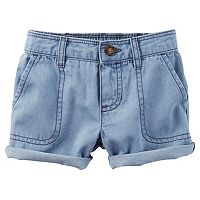 Baby Girl Carter's Cuffed Denim Shorts