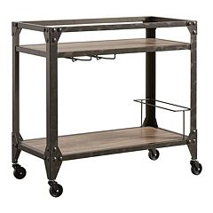 HomeVance Ridge Rustic Industrial Bar Cart