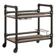 HomeVance Rovan Rustic Industrial Bar Cart