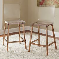 HomeVance Aralia Glam Counter Chair 2-piece Set