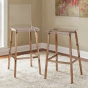 HomeVance Aralia Glam Bar Stool 2-piece Set