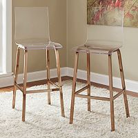 HomeVance Aralia Glam Bar Stool 2 pc Set