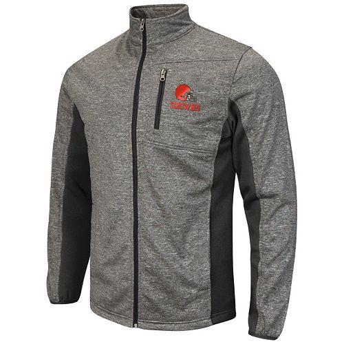 1b250d92 Men's Cleveland Browns Space-Dye Full-Zip Fleece Jacket