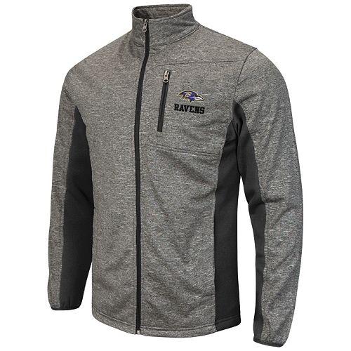 5bc20afb Men's Baltimore Ravens Space-Dye Full-Zip Fleece Jacket