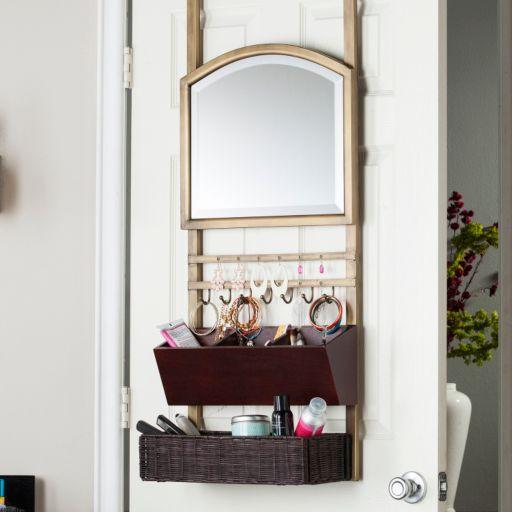 Cappella Over-the-Door Organizer & Mirror