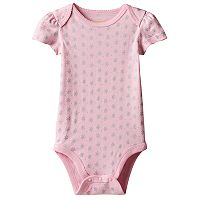 Baby Girl Jumping Beans® Foiled Flower Bodysuit