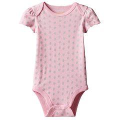 Baby Girl Jumping Beans® Foiled Flower Bodysuit