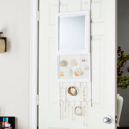 Karisse Over-the-Door Jewelry Storage & Mirror
