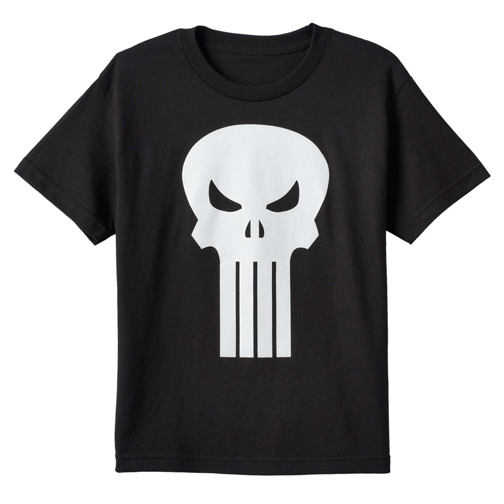 Boys 8-20 Marvel The Punisher Glow-in-the-Dark Tee