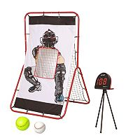 Net Playz Multi-Sport 2-in-1 Pitching & Rebound Trainer & Speed Radar Set