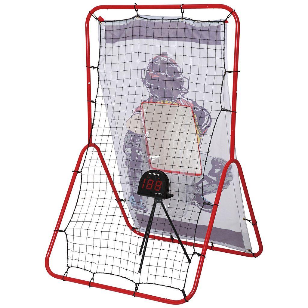 Net Playz Multi-Sport 2-in-1 Pitching & Rebound Trainer & Speed Radar Set