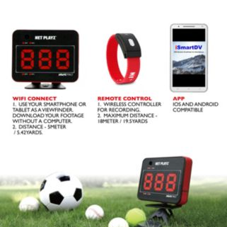 Net Playz Smart Pro Speed Vision Multi-Sport Personal WiFi Speed Radar &  Remote Control Wristband Set
